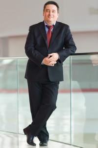 Kraków, 01.07.2015. Andrzej Banasiak Dyrektor Generalny Thales Alenia Space Polska. Firma uczestniczyła targach przemysłu kosmicznego i aeronautyki EUCASS 2015. PAP/Stanisław Rozpędzik
