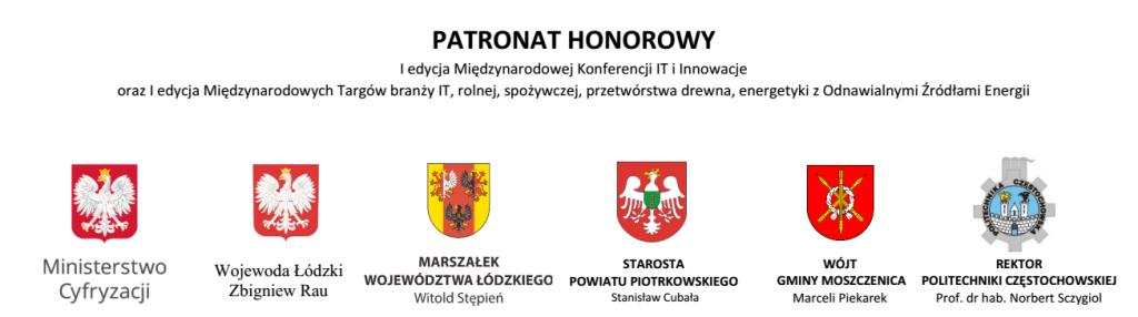Gmina Moszczenica - Patronaty honorowe